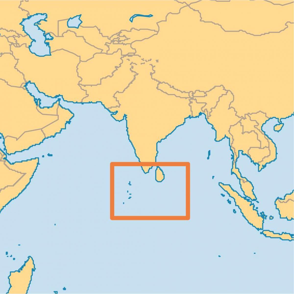 Mapa Ilhas Maldivas Maldives Island Localizacao No Mapa Sul Da